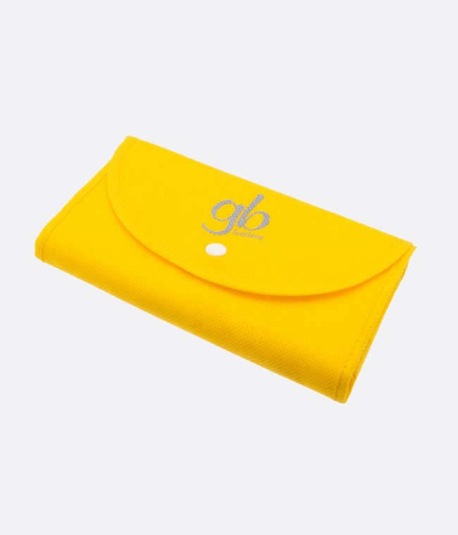 yellow popper shopper bag