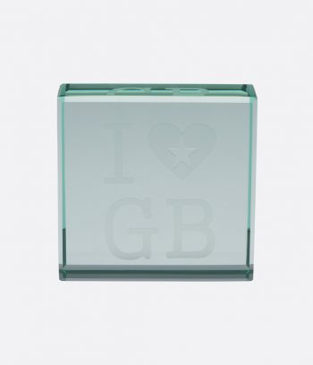 glass i love GB