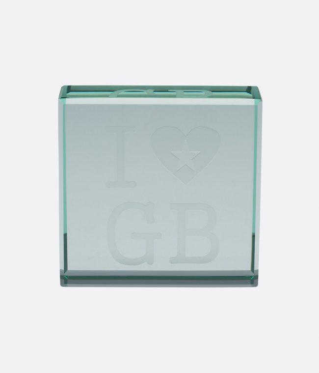 glass i love GB