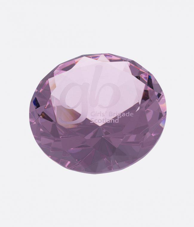 pink diamond paperweight