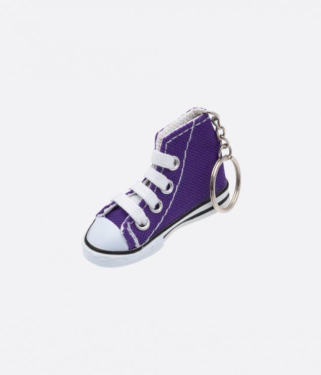 purple sneakers keyring