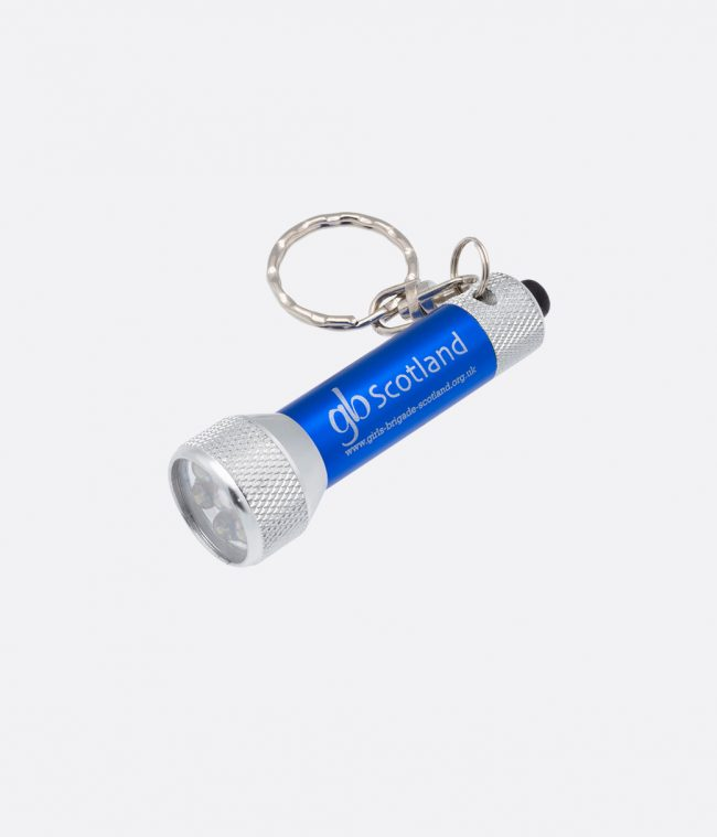 blue torch keyring