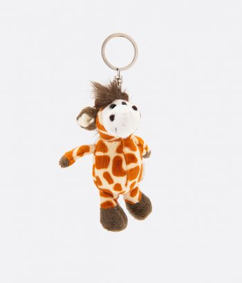 giraffe animal key ring