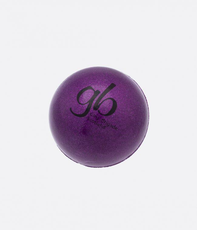 purple metallic sponge ball