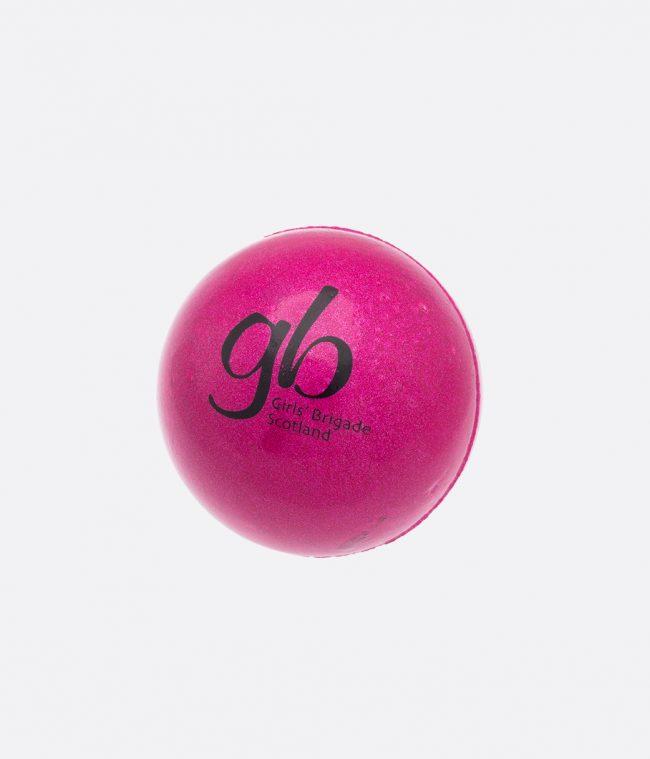 pink metallic sponge ball