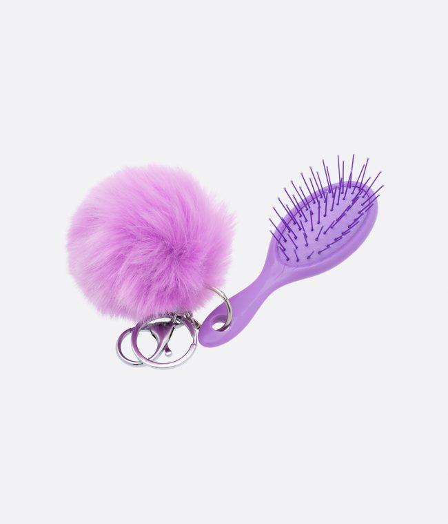 brush and pompom purple