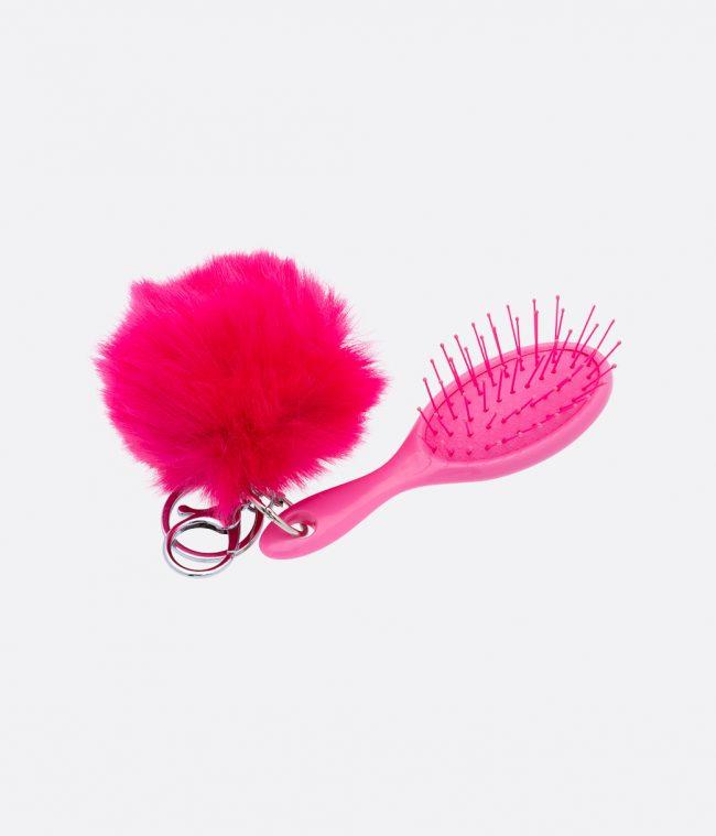 brush and pompom dark pink