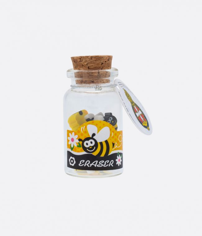 honeybee mini eraser pot