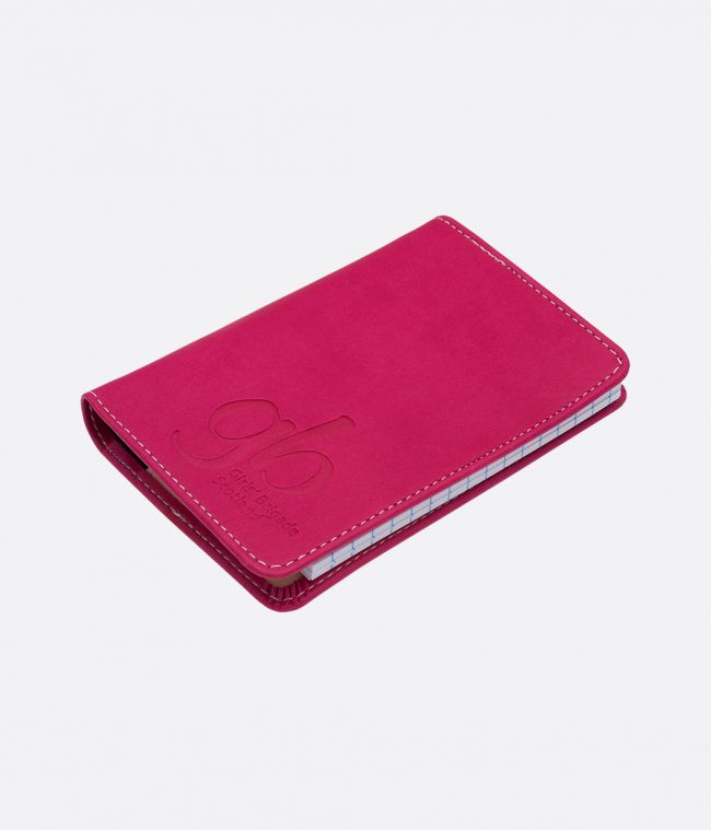 soft touch luxor notebook pink