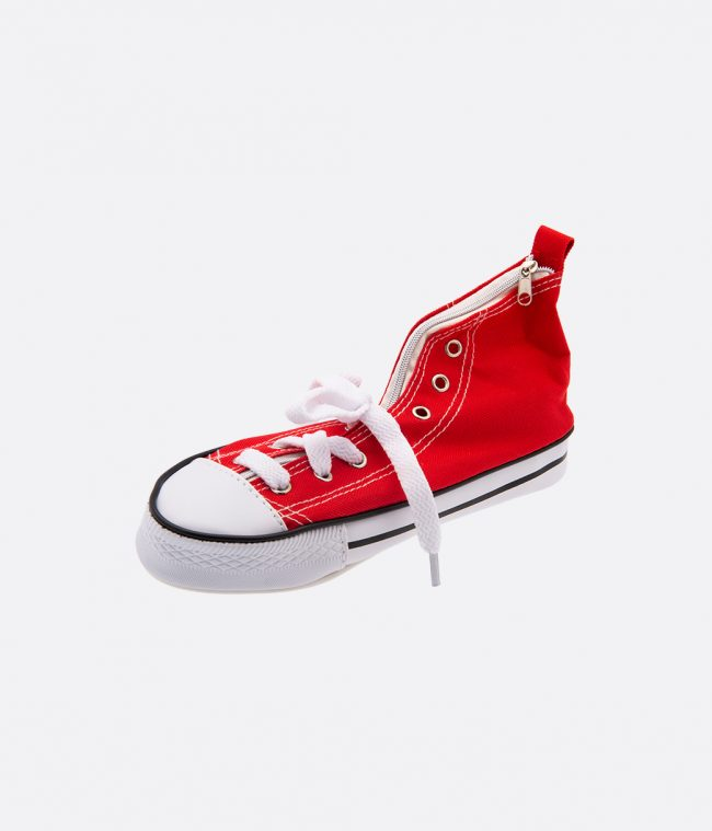 sneaker pencilcase red