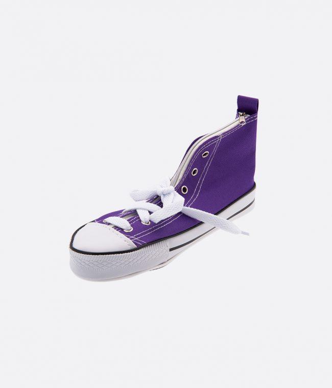 sneaker pencilcase purple