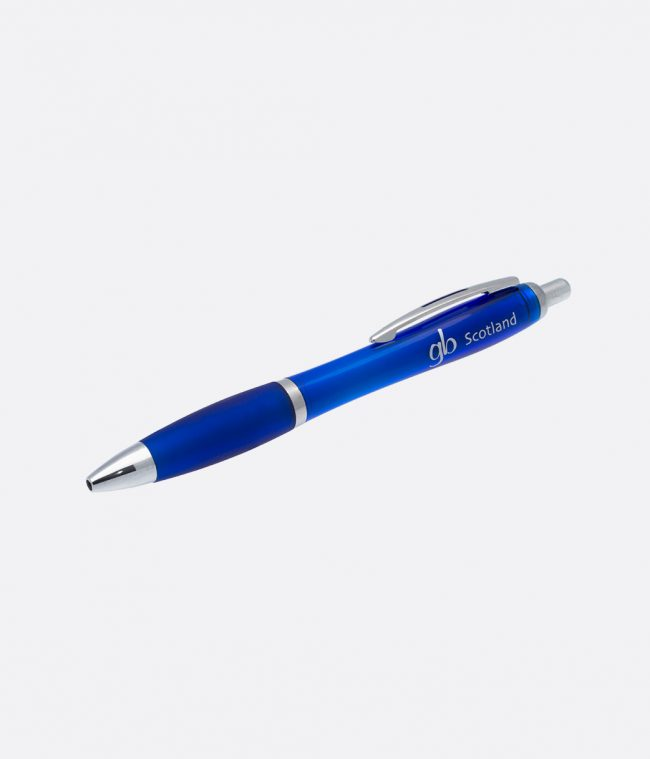 Gloss grip ballpen blue