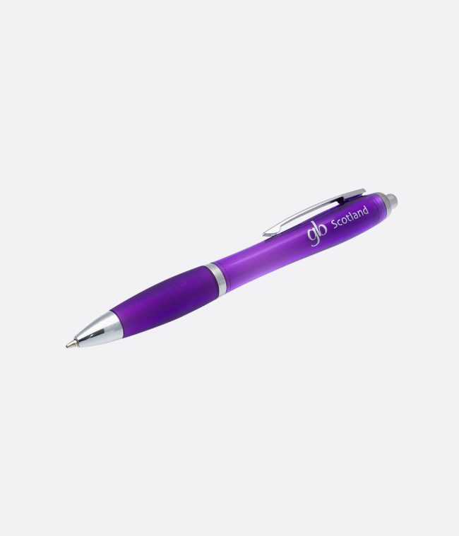 Gloss grip ballpen purple