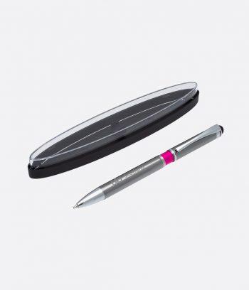 silver ball pen in case