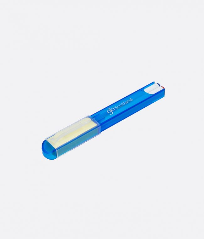 pen and post it set blue